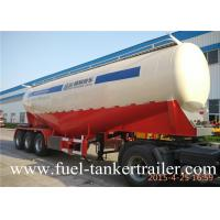 Cheap 3 Axle 40 ton V type Bulk Cement Trailer tank truck for fly ash transportation for sale