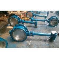 Cheap Double Flanged Butterfly Valve Adjust Tightness With Hand Wheel Dn50 To Dn400 for sale