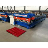 Cheap Servo Motor Glazed Tile Roll Forming Machine 4 Meter / Min With 18 Rows for sale
