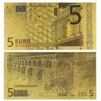 China Europe 5 Euro Banknote Gold Paper Money Collection on sale