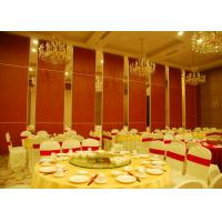 Cheap Red Fabric Plywood Single / Double Door Folding Partition Walls  BUNGE Standards for sale
