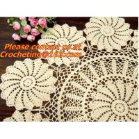 Cheap Crocheted Applepine flower Table cloth, table cover, handmade crochet, blanket, clothes for sale
