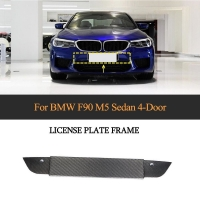 China Euro Style Dry Carbon Fiber License Plate Cover Exterior Trim for BMW F90 M5 2018-2019 on sale