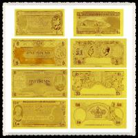 Cheap Australia Old AUD Gold Banknote In 24k Gold Leaf With Double Logo for sale