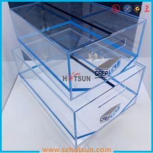 Cheap 2016 acrylic sneaker box, acrylic shoe box, shoe storage box display rack for sale