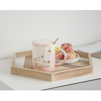 Cheap 330CC Wide Mouth 15cm Personalised Ceramic Mugs for sale