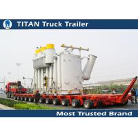 Cheap Safety Multi Axle Hydraulic Modular Trailer , Gooseneck Low Loader Trailers for sale