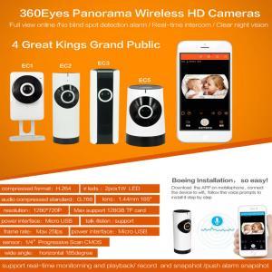 Cheap EC5 720P Fisheye Panorama WIFI P2P IP Camera IR Night Vision CCTV DVR Wireless Remote Surveillance on iOS/Android App for sale