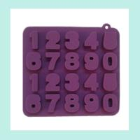 China silicone chocolate baking molds ,silicone cake number molds on sale