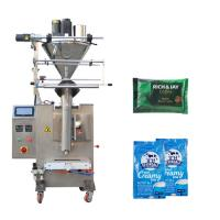 China Auger Filler Powder Packing Machine Color Touch Screen Control Panel Available on sale