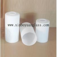 Cheap Milk white Cylinder glass lamp cover for sale