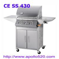 Cheap Stainless Steel Gas BBQ Grills on cart for sale