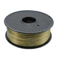 Buy cheap Bronze Heat Resistant Plastic PLA Plastic Filament Safe For Reprap 3D Printer from wholesalers