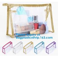Cheap Eco-friendly heat seal frosted PVC /EVA ziplock bag, Custom Waterproof Cosmetic Clear Plastic PVC Zipper Bag With Logo for sale