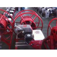 China Petrol Engine Powered Cable Winch Puller 5 Ton For Conductor Taking Up / Stringing on sale