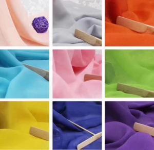 Quality 100D soft woven plain dyed chiffon/polyester chiffon fabric stock lot 100D chiffon for Fashion &beauty women wholesale
