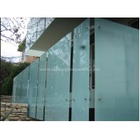 Cheap Shower Room Obscure Acid Etched Glass Patterns , Double Sided Auto Float Glass for sale