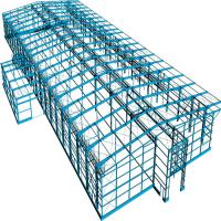 Cheap Prefab Portable Steel Frame Workshop Buildings With Light Steel Structure for sale