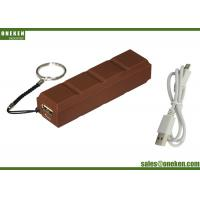 Cheap Universal Chocolate Mobile Portable Charger Power Bank 2600mAh , High Speed Cell Phone Charger wholesale