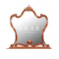 China Makeup Vanity Table European Style Antique Dressing Carved Wooden Mirror LS-A312F on sale