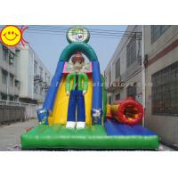 Cheap Multicolor PVC Inflatable Combo Cartoon Man Slide With Tunnel 12*5*8mH for sale
