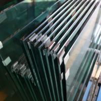 Cheap SGCC standard Custom size 12mm clear tempered safety glass for Button Structural Balustrade Railing for sale