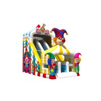 Cheap Funny PVC Digital Painting High Inflatable Dry Slide Circus Clown for sale
