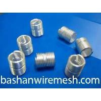 Quality 304 stainless steel silver wire thread inserts by xinxiang bashan wholesale