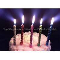 Quality Personalized 0.8cm Dia Gold Cake Birthday Candles 12 Pieces 6 Colors wholesale