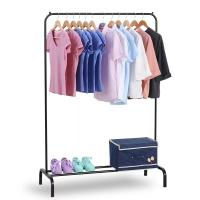 Cheap Single Rail Pipe Space Saving Clothes Drying Rack With Cap Hangers for sale