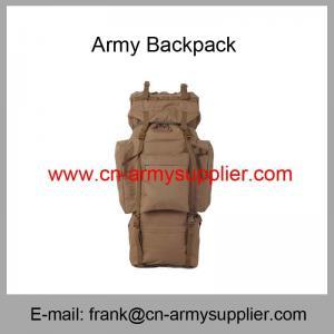 Wholesale Cheap China Military Khaki Tan Desert Brown Police Army Rucksack