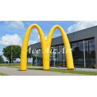 Cheap new design advertising inflatable event arch display,custom letter M inflatable archway for promotion for sale