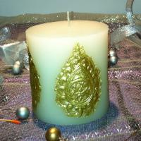 Pillar Led Candle With The Decorative Patterns Of Candle China