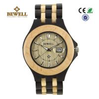 Cheap Luxury Hand Crafted Wooden Wrist Watch For Groomsmen , Ebony Maple for sale