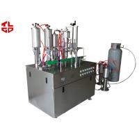 Cheap Aerosol Spray Filling Machine , Automatic Spray Painting Machine Suppliers for sale