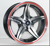 Alloy Cars Silver Full Painted 13 Inch Wheels With Machine Cut Face
