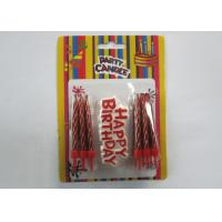 Cheap Fashionable Gold Birthday Candles Shiny Red Happy Birthday Spiral Screw Candles for sale