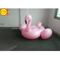 Cheap Light Weight Inflatable Pink Flamingo , Inflatable Pool Toys For Swimming Pool for sale