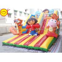 Cheap Cartoon Theme Kids Bouncer Combo Inflatable Cartoon Bouncy Castle With Slide for sale