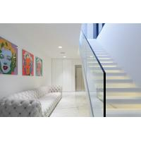 Cheap Inside white Straight staircase wooden stair with customized design for sale