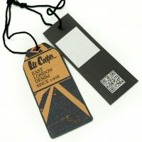 Cheap Tide Brand Clothing Hang Tags With String , Custom Printed Logo Swing Tags for sale