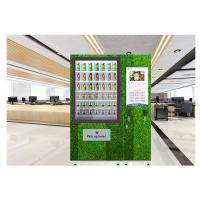 Cheap Floor Stand 24 Hours Auto Salad Vending Machine With Coin Bill Card Payments for sale