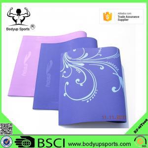 China custom eco friendly anti-slip TPE yoga mat manufacturer on sale