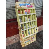 Cheap Multilayer Magazine Paper Display Stand , Colorful Cardboard Newspaper Stands for sale