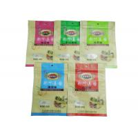 Cheap Custom Printed Snack Packaging Bags / Zipper Pouches For Packing Food Back seal bag for sale