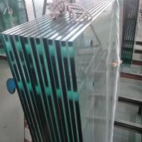 Cheap China supplier 12mm clear monolithic tempered glass with ANSI Z97.1 for commercial interior railing for sale