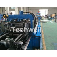 Cheap Blue Cable Tray Roll Forming Machine  With Punch Machine & Hydraulic Pre - Cutting Device for sale