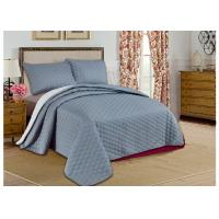 Cheap Custom Grey Printed Bed Spread Sets , Home Adult Luxury Bedspreads for sale