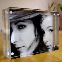 China Beautiful Personalized Recyclable Cutting Picture Acrylic Photo Frames on sale