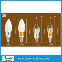 Cheap 3 W Glass Shape Led Candle Lights / E14 Chandelier Led Candle Lamp CE for sale
